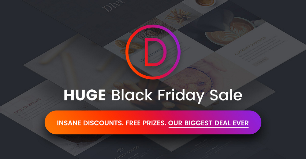 Elegant Themes Black Friday / Cyber Monday Sale