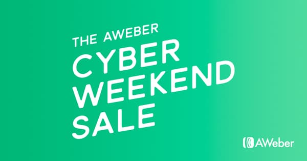 Aweber Black Friday Sale - 25% Discount