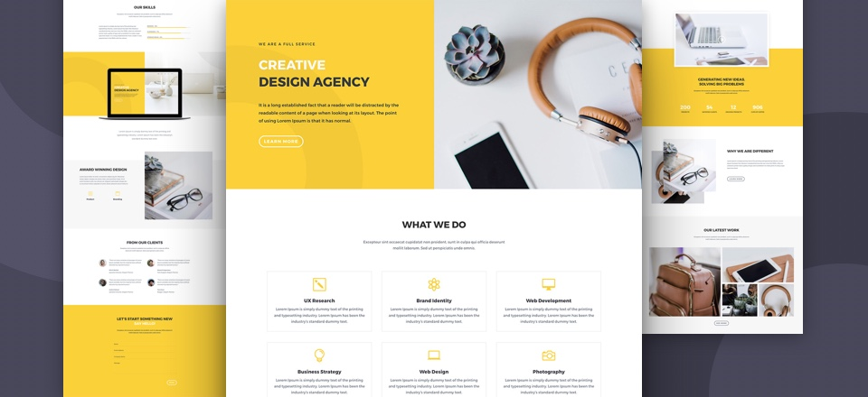 Divi Agency Layout Pack - Elegant Themes Black Friday