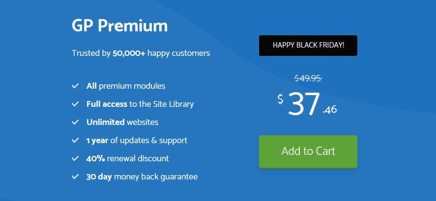 GeneratePress Black Friday - How Much Discount?