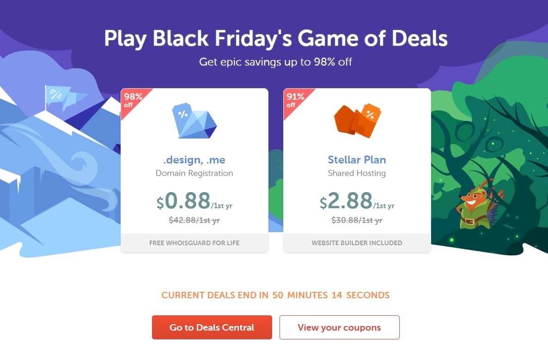 NameCheap Black Friday Flash Deals