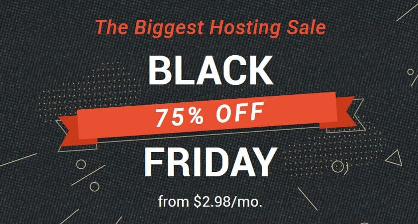 SiteGround Black Friday Sale - 75% Discount