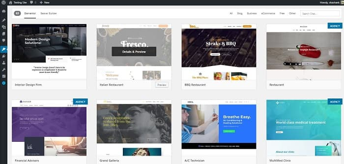 Astra Theme Black Friday: Templates Library