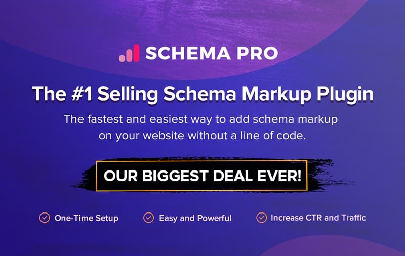 Schema Pro Black Friday Sale 2019 - Grab 30% Discount on All Plans