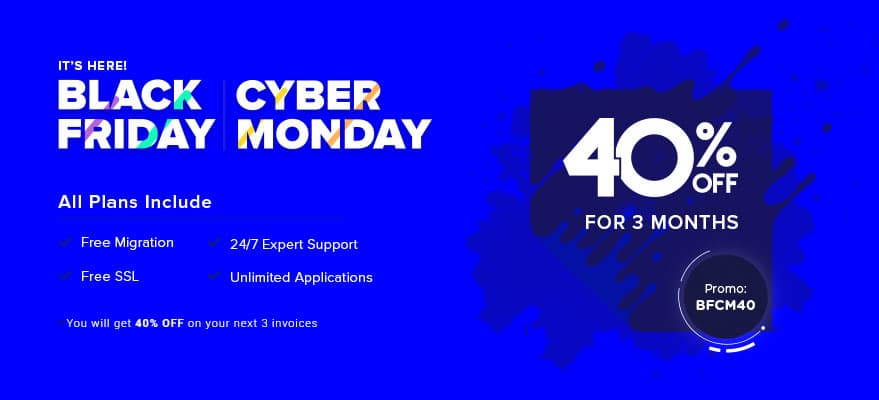 Cloudways Black Friday Sale - 40% Discount on Everything