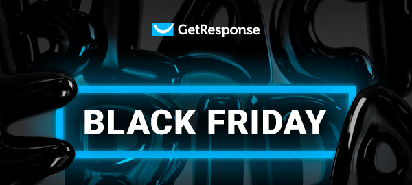 GetResponse Black Friday Sale - 40% Discount