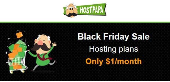 HostPapa Black Friday Sale - $1 Per Month Hosting